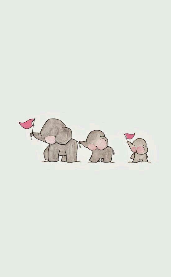 Cute elephants wallpaper