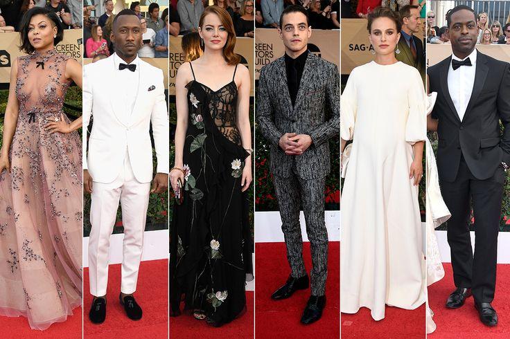 SAG Awards 2017 Red Carpet Arrivals: Taraji P Henson, Mahershala Ali, Natalie Portman and More