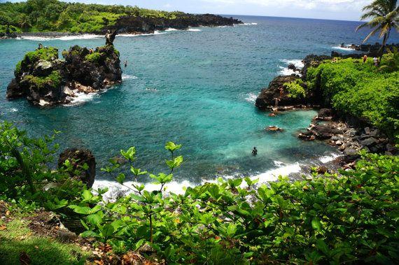 Wainapanapa State Park Maui by BottegaDesigns on Etsy