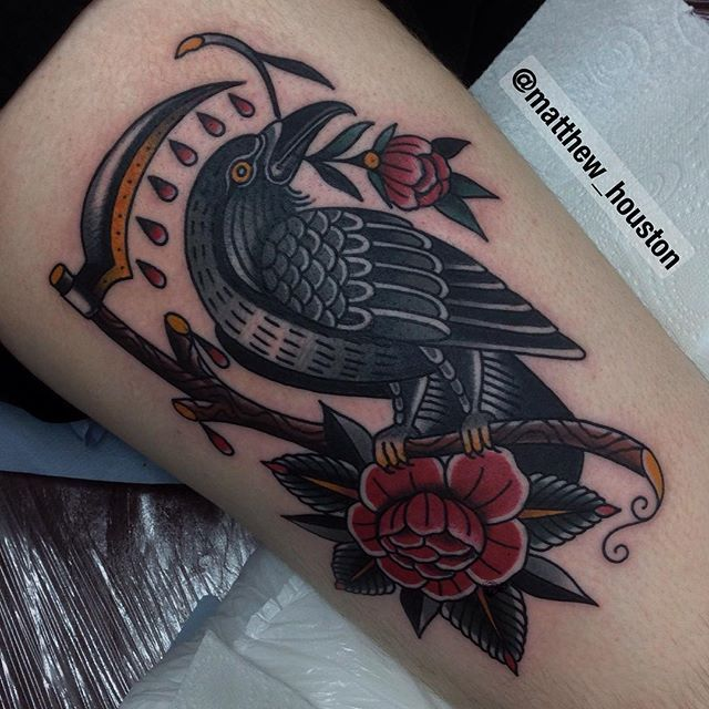 """Big old bird on Mike who has been itching to get tattooed since Vancouver. Good…"