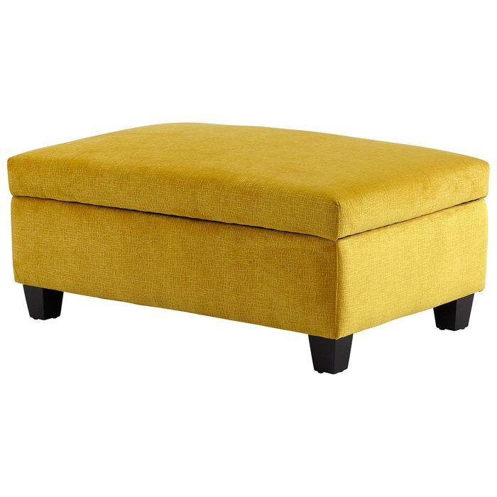 40 Rectangle Storage Ottoman Yellow Ottoman Ottoman Yellow Home Accessories