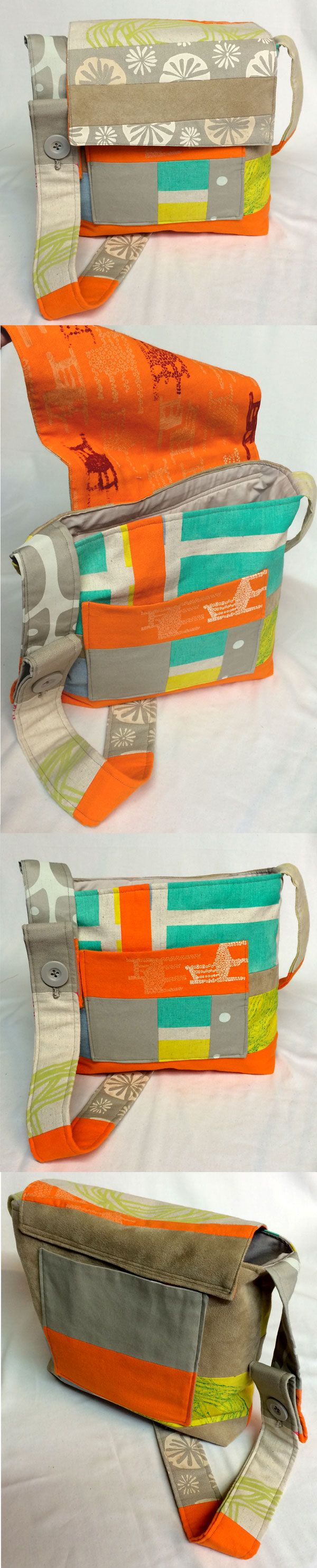 Used remnants from my own printed textiles to create this messenger bag. Thanks to http://freespiritfabric.blogspot.com.au/2012/09/so-fabric-designer-and-sewist-walked.html?m=1 for the free pattern.