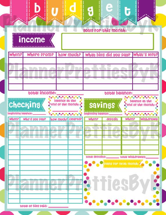 Want to add an organizer to your notes page? This is for you! Any of the printables in my shop can be made into a sticker! :)