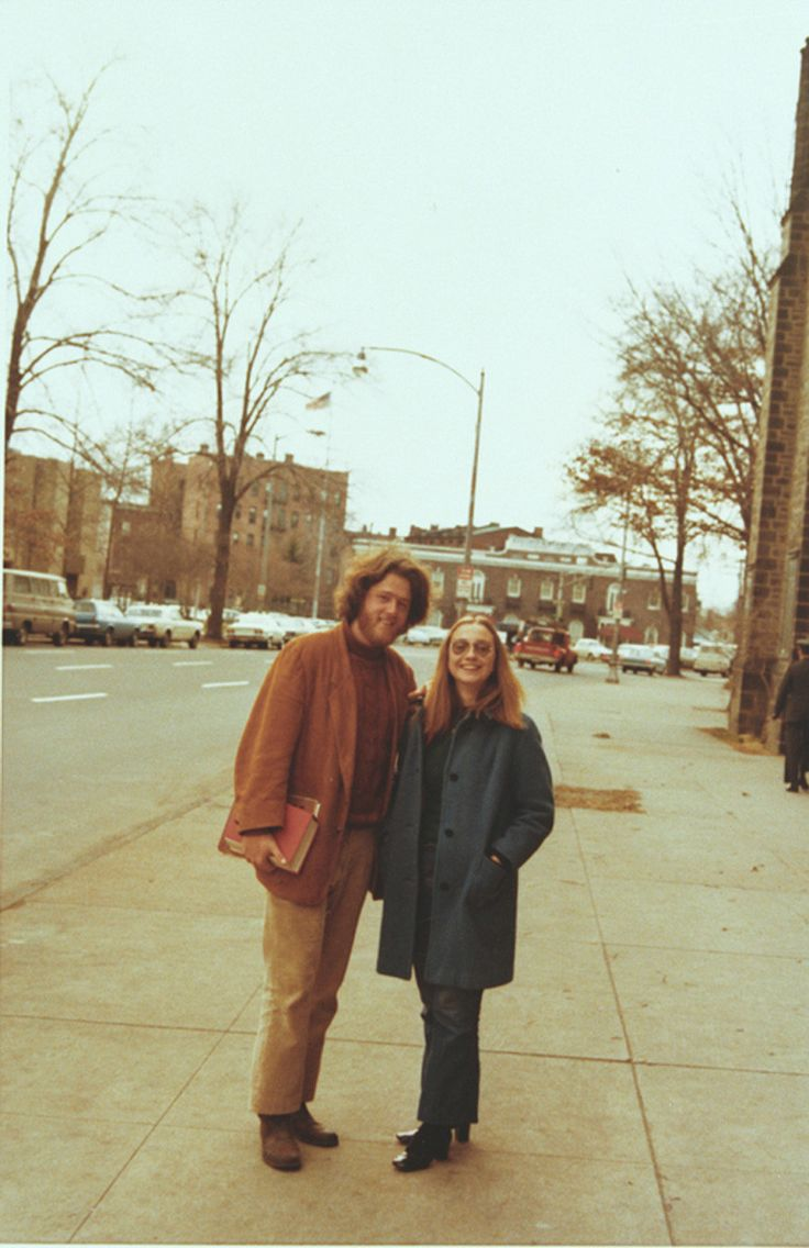 Bill And Hillary Clinton At School    Here is an old picture of the Clintons just hanging out and being awesome and stuff. The photograph was taken at Yale Law School in 1972. More like this here.