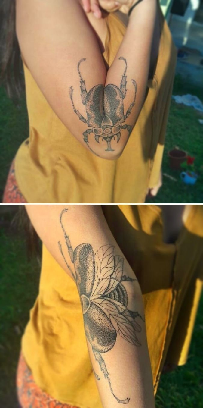 Ein Tätowierer aus Brasilien machte ein einzigartiges Tattoo, das sich buchstäblich öffnet, w…