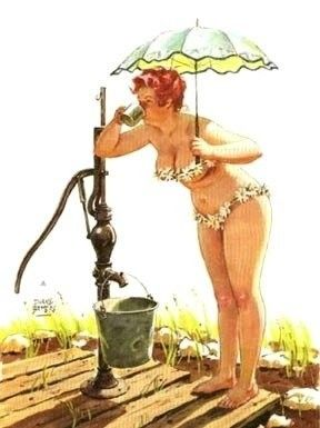 Nothing more refreshing than water straight from the pump.