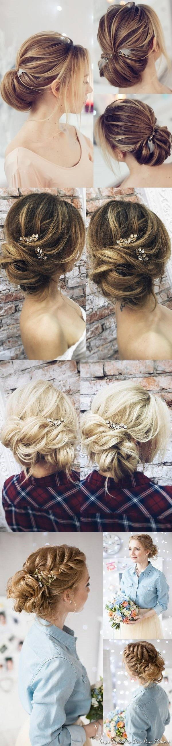 Coiffure De Mariage : Wedding Hairstyles for Long Hair from Tonyastylist / www.deerpearlflow......