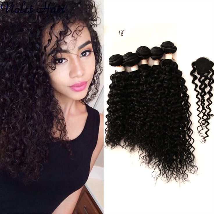 Cheap Virgin Hair With Closure Bundle 5 Bundles Wet And Wavy Virgin Brazilian Hair With Closure Cheveux Naturels Human Hair 6a