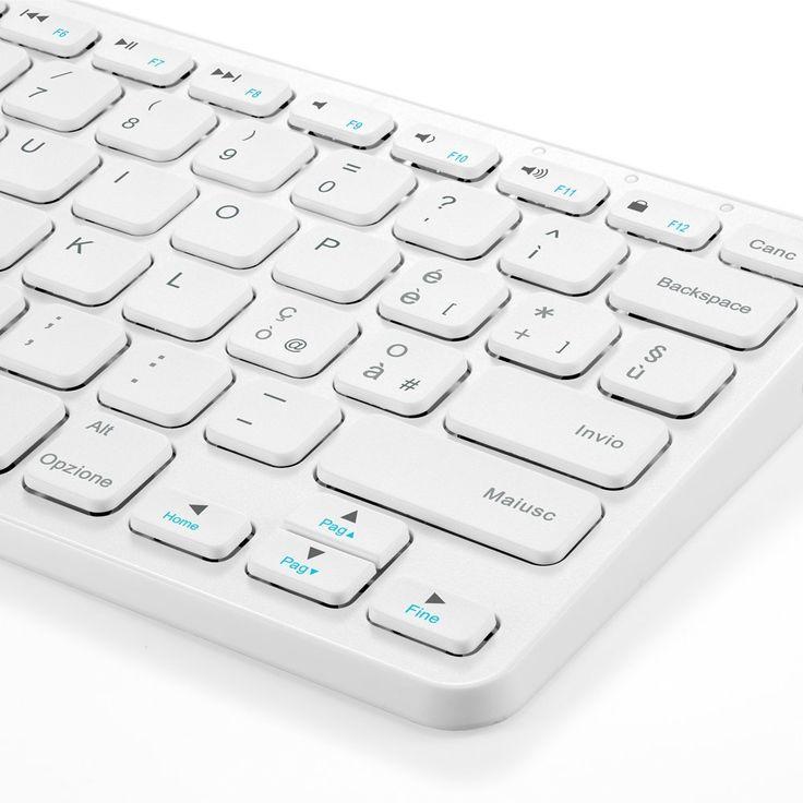 Sconto su tastiera Bluetooth ricaricabile per Mac, PC, iOS e Android: 22 euro