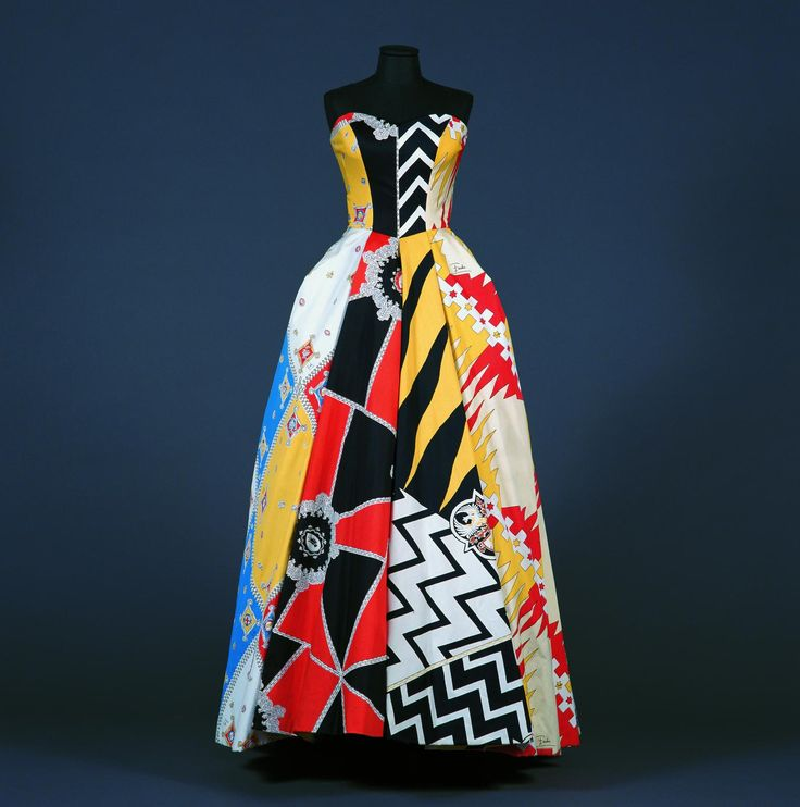 [Emilio Pucci, Strapless dress with full skirt, spring-Summer 1957]