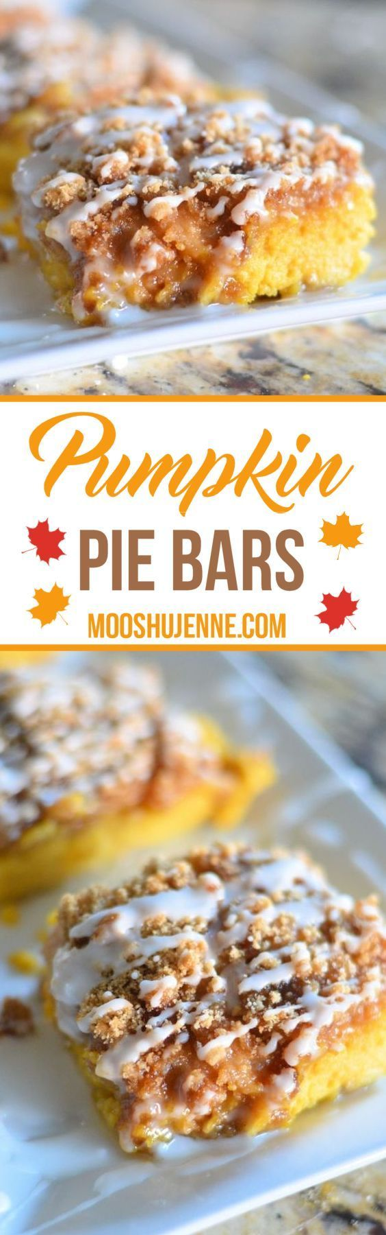 Pumpkin Pie Bars. They are simple. They take about an hour to put together and…