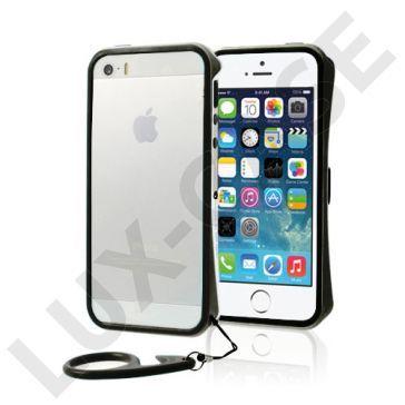 Clean Vapor (Sølv - Svart) iPhone 5/5S Lettvektet Bumper