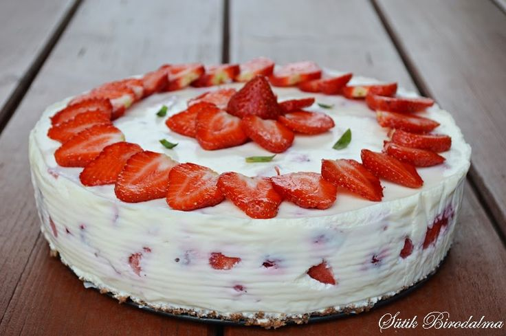 SÜTIK BIRODALMA: Epres túrótorta / Strawberry cottage cheese cake