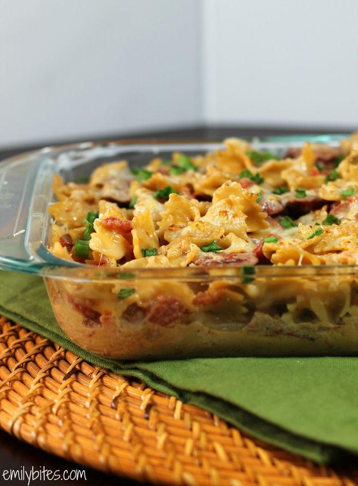 Emily Bites - Weight Watchers Friendly Recipes: Spicy Sausage Pasta