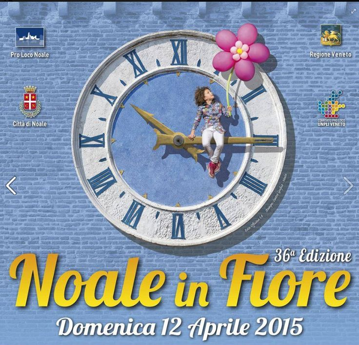 2015 Noale in Fiore - Flowers in Noale April 11, 3:30-9 p.m.; April 12, 8 a.m.-7 p.m., in Noale (Venice), Piazza Castello, Piazza XX Settembre; hunders of firms from all over Italy display their flowers, plants, trees, patio furniture and garden tools; live music on April 12 starts at 3 p.m.; hot balloons rides from Via Vecellio on April 12 at 11 a.m. and 4 p.m.