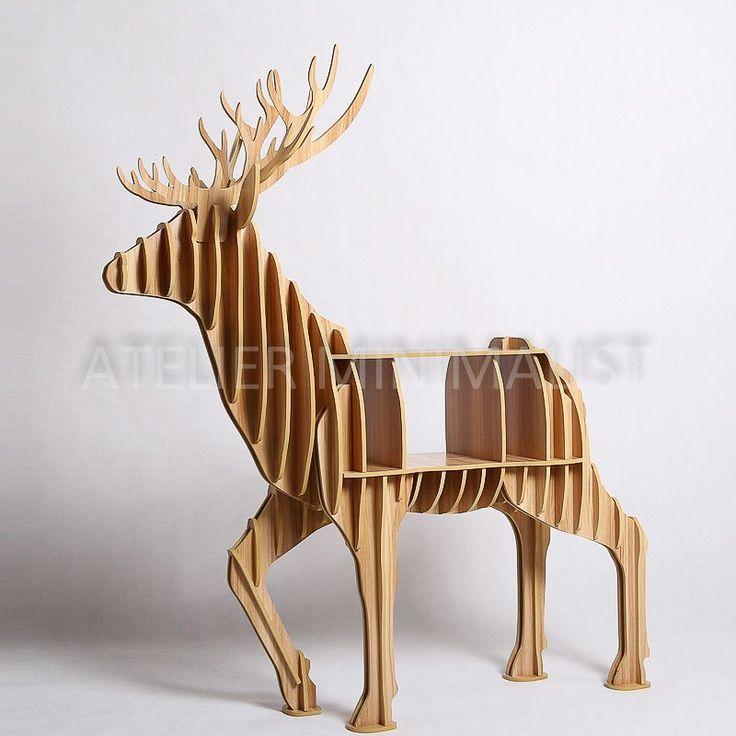 Wooden Elk Shelf