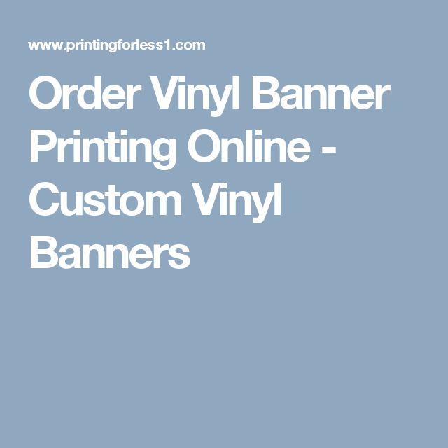 Order Vinyl Banner Printing Online - Custom Vinyl Banners
