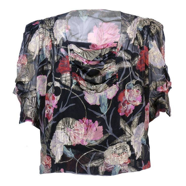 Vintage 30s Gold Lame Floral Blouse – THE WAY WE WORE