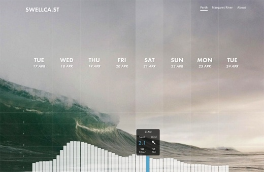 Calendar Visual / UI Inspiration  swellca.st