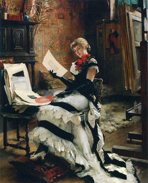 Albert Gustaf Aristides Edelfelt by hauk sven, via Flickr  Art, posters and prints of a woman or women reading repinned by www.AboutHarry.com