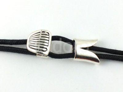 Zapięcie do bransoletki kolor srebrny- 1 komplet  Półfabrykaty metalowe  »  Zapięcia