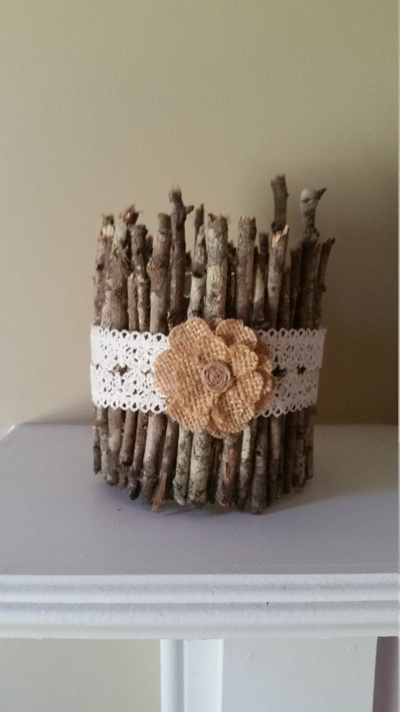 twig wedding centerpiece by SouthernRusticMomma on Etsy