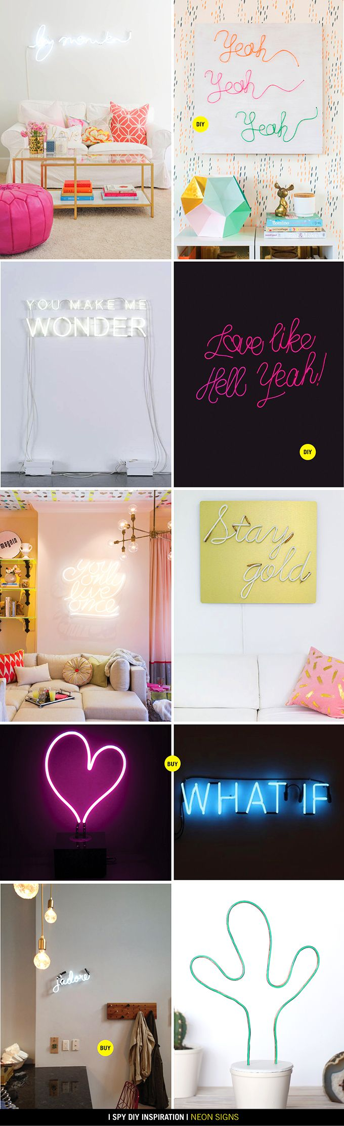 DIY INSPIRATION | Neon Signs                                                                                                                                                                                 More