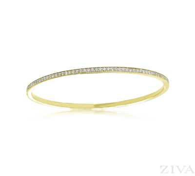 metallic penny eternity diamond engraved product bangle platinum ring jewelry band normal preville lyst in bangles