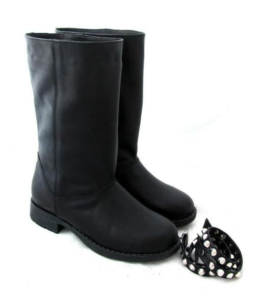 Genuine #Leather #Boots with studs KALI shoes