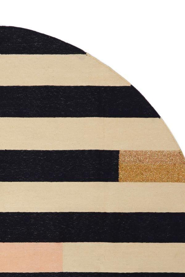 Stripe Circle Rug