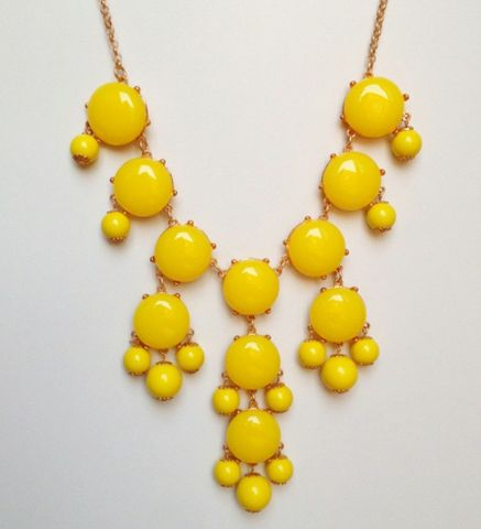 Yellow Bubble Necklace from Bubble Necklace Co! Love the yellow; everyone has blue.