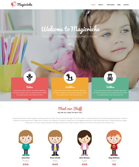 magicreche kids wordpress theme