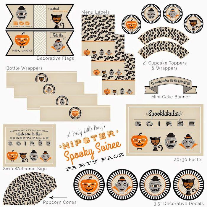Hipster Spooky Soiree via Kara's Party Ideas KarasPartyIdeas.com Cake, decor, cupcakes, recipes, and more! #halloween #halloweenparty #spookysoiree (3)