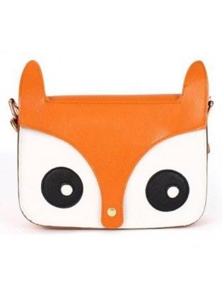 Retro Owl Face Clasped Messenger Bag