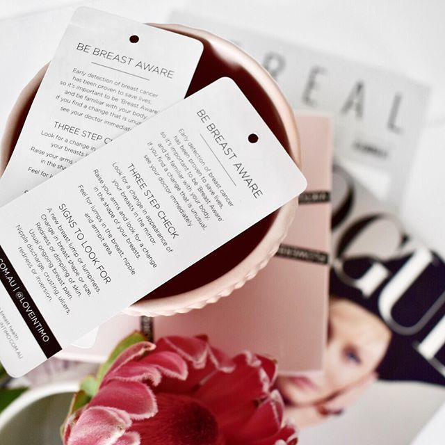 Did you know every Intimo bra comes with a special breast check swing tag - place it on your mirror or bedside table as a reminder to #bebreastaware all year round. #loveintimo