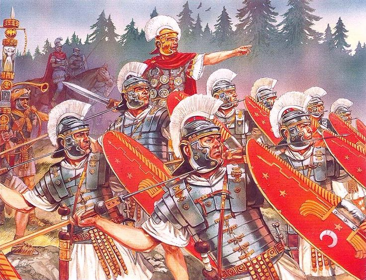 Imperial Roman Praetorian Guard - art by Peter Dennis