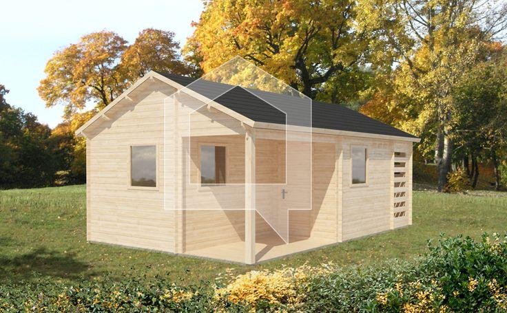 W dwóch podstawowych pomieszczeniach można urządzić kuchnię i pokój wypoczynkowy, pomyśleliśmy także o komórce na narzędzia, toalecie, a nawet o niewielkiej drewutni.