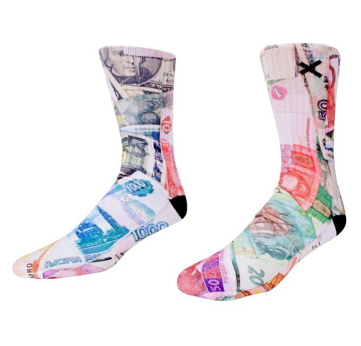 ACCESSORIES - SOCKS - Odd Sox Big Spender Socks - Multicolor - Buy Online at DTLR