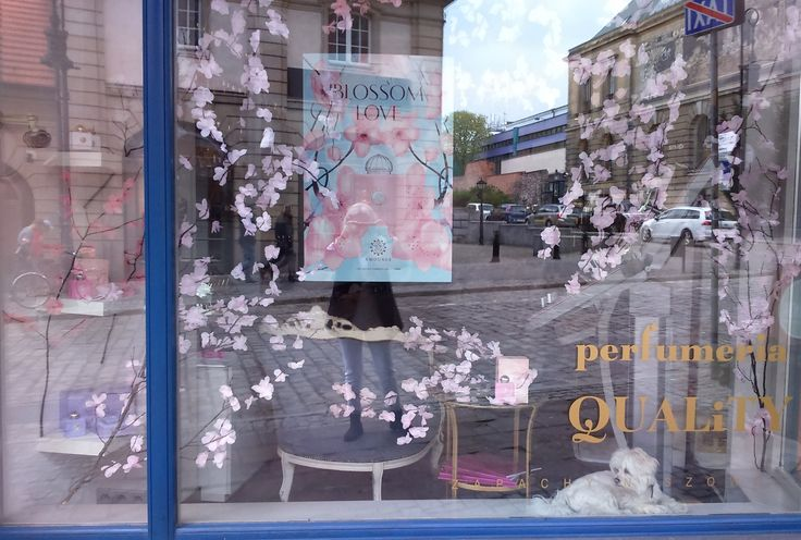AMOUAGE Blossom Love window display in Poznan