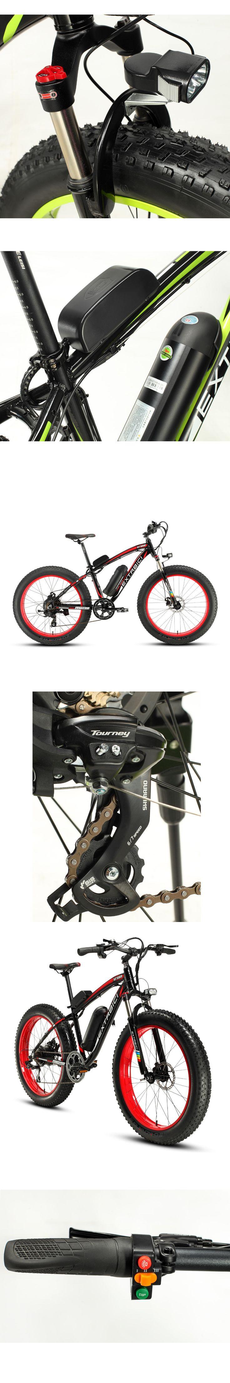 "Extrbici Man XF660 48V 500Watt Li-battery Electric Bike Mountain Snow Beach 7 Speeds 26"" 4.0 Fat Tire ebike Hydraulic Disc Brake"