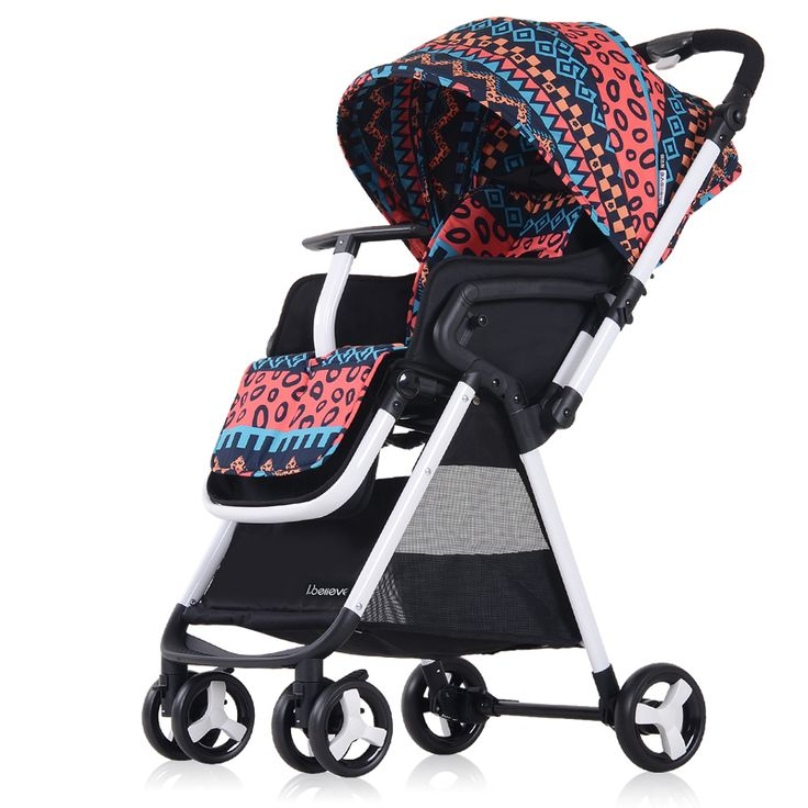 Fashion Light High Landscape Baby Stroller Portable Folding Strollers Prams and Pushchairs Shockproof 0-4 years old Baby Car C01