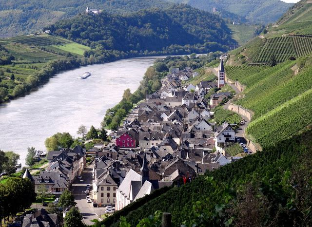 The village of Zell-Merl on the Moselle River.