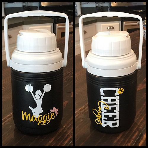 Personalized water jugs for cheer squad with name and te… | Flickr