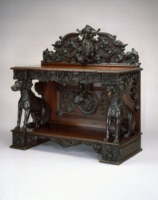 sinister sideboard. Maker: Alexander Roux, American, born France, 1813-1886 (active New York, 1836-1880)