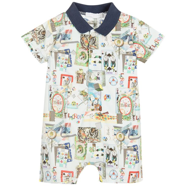 Christian Lacroix - Baby Boys Blue Printed Shortie |