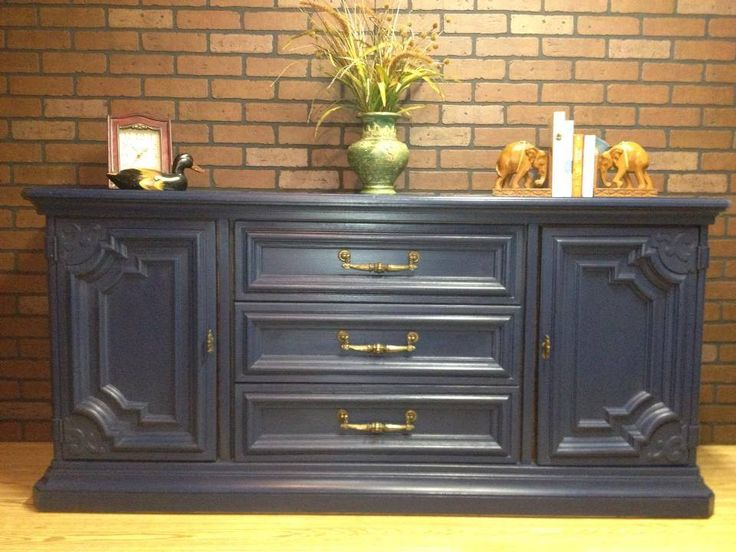 Navy blue painted dresser twice loved furniture for Navy blue painted furniture
