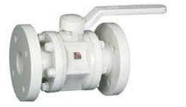 PP ball valve flange ended