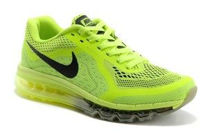 Nike Air Max 2014 Mandbalee Schoenen Heren/Dames Unisex Fluorescence Groen Zwart