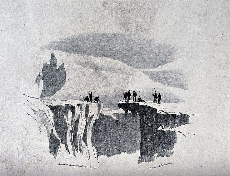 File:The ascent of Mont Blanc by John Auldjo's party in 1827; tra Wellcome V0025172.jpg