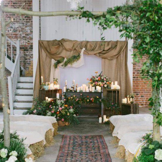 Beautiful Indoor Wedding Ceremony: Beautiful Irish Wedding Inspiration From Stylist Alise